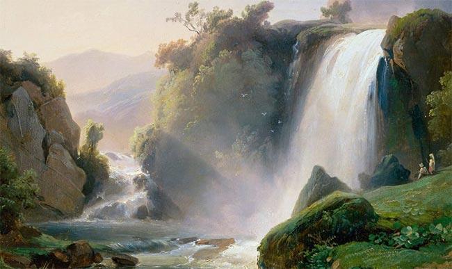 Reflexionando frente a la cascada
