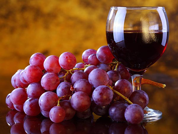 resveratrol, vino y uvas