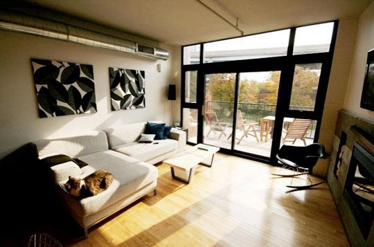 Living de un hogar armonioso