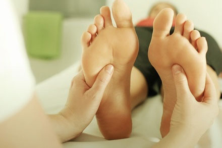 Reflexologia en los pies