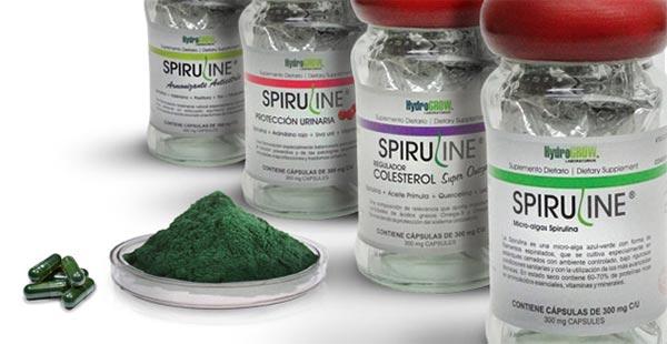 Frascos de Spiruline o spirulina